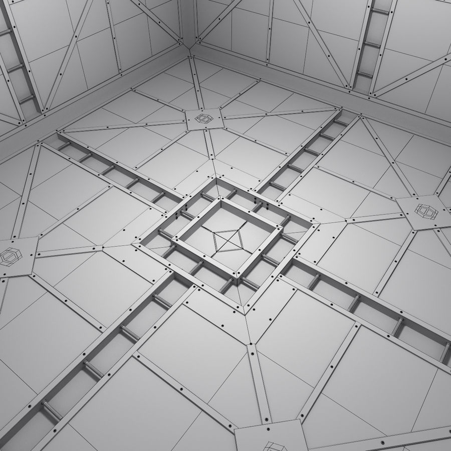 Sci Fi Room (Hypercube) royalty-free 3d model - Preview no. 2