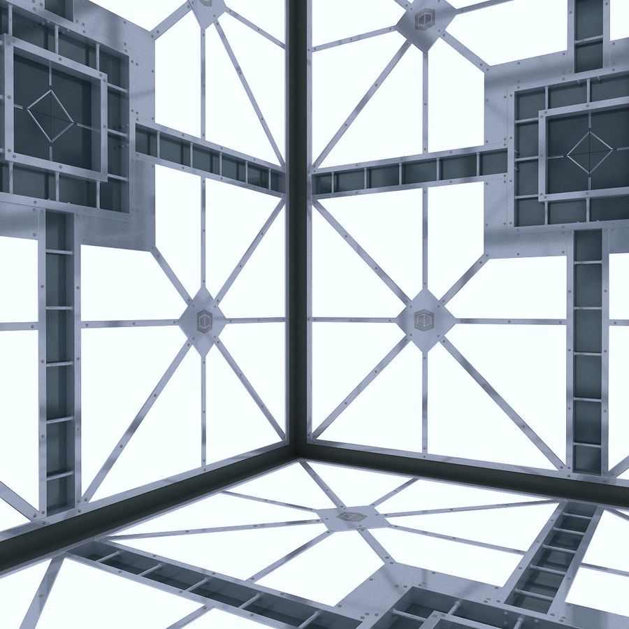 Sci Fi Room (Hypercube) royalty-free 3d model - Preview no. 5