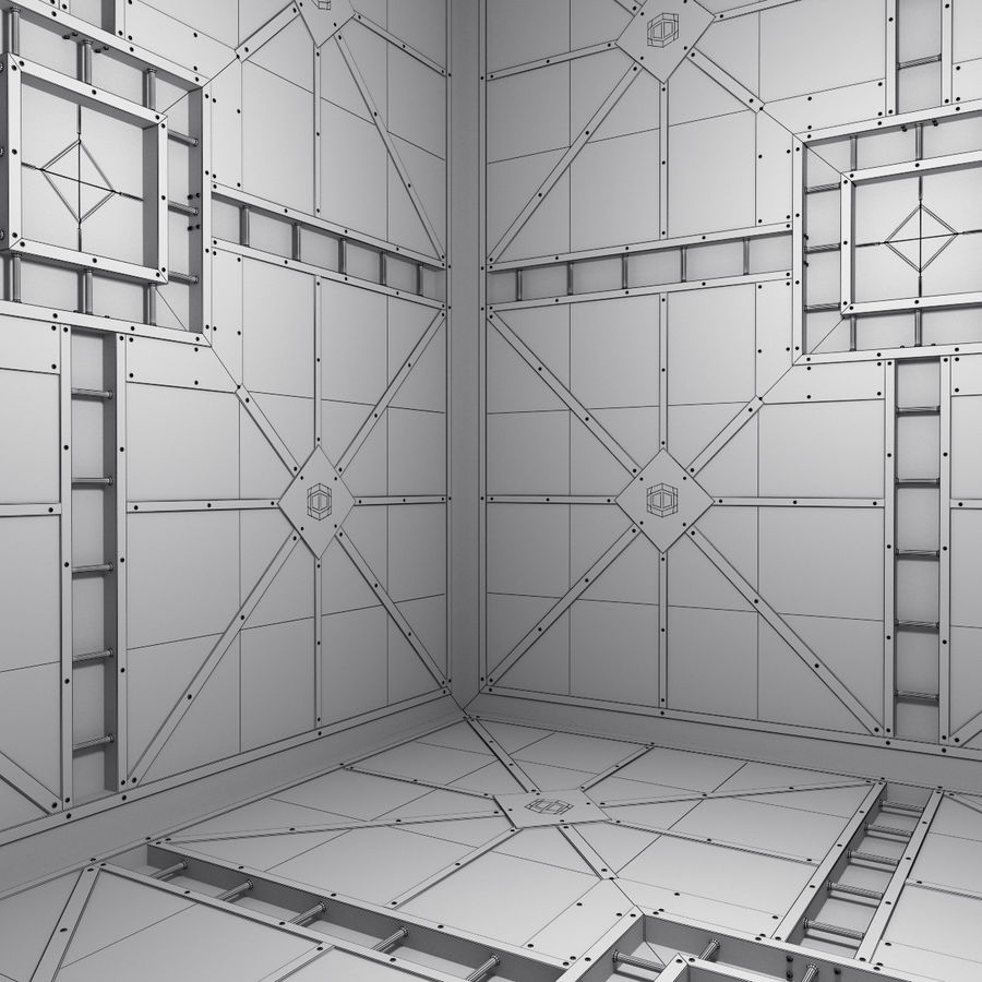 Sci Fi Room (Hypercube) royalty-free 3d model - Preview no. 6