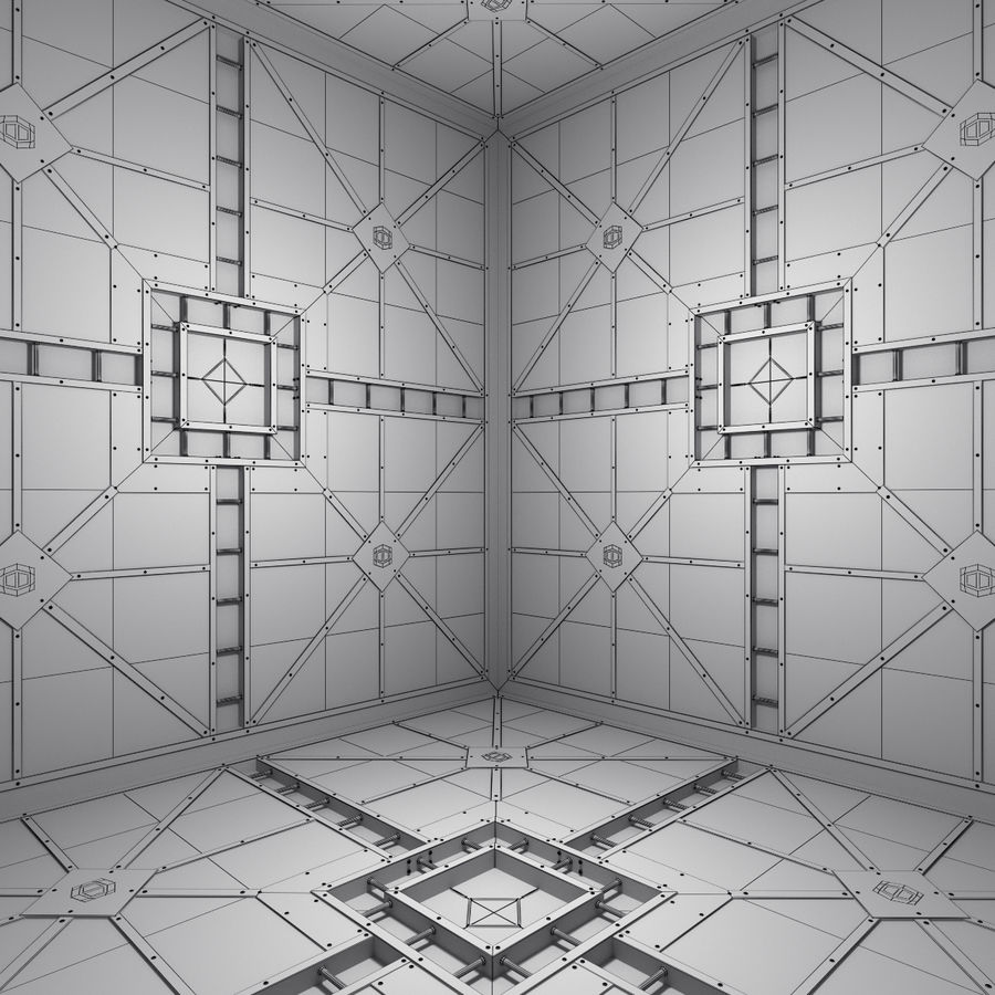 Sci Fi Room (Hypercube) royalty-free 3d model - Preview no. 4