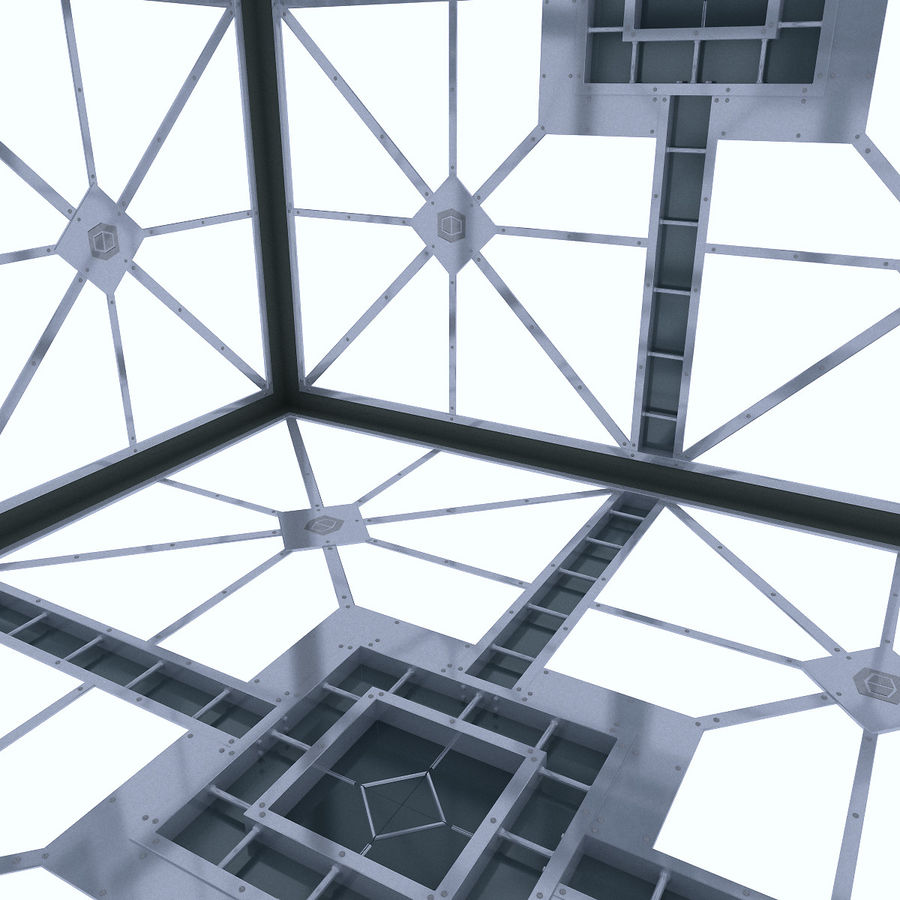 Sci Fi Room (Hypercube) royalty-free 3d model - Preview no. 7