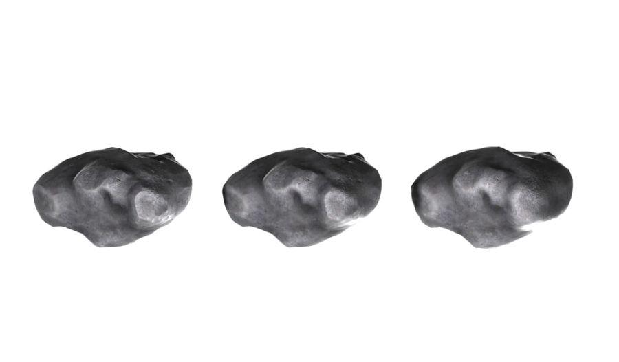 zestaw meteorów royalty-free 3d model - Preview no. 4