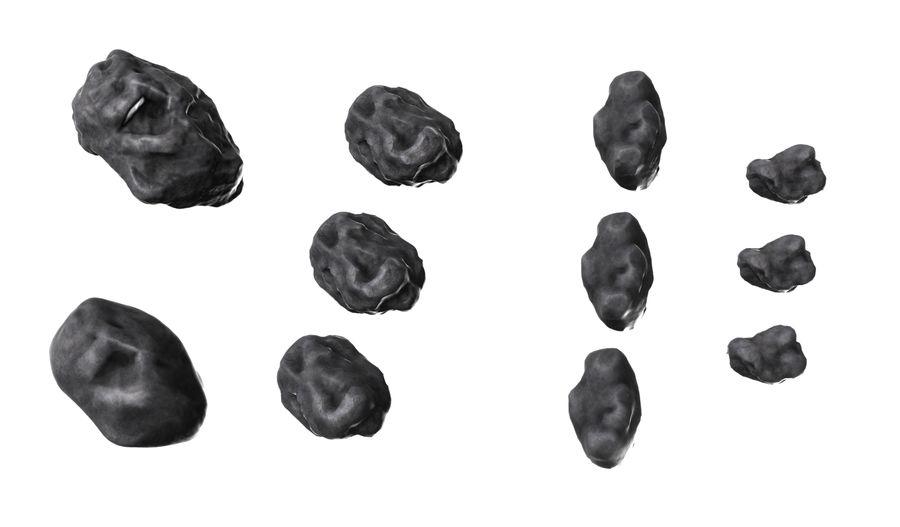 zestaw meteorów royalty-free 3d model - Preview no. 1