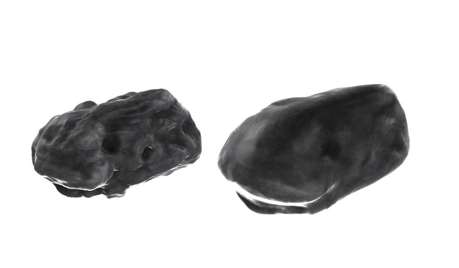 zestaw meteorów royalty-free 3d model - Preview no. 8