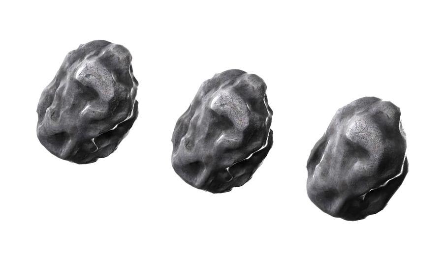 zestaw meteorów royalty-free 3d model - Preview no. 6