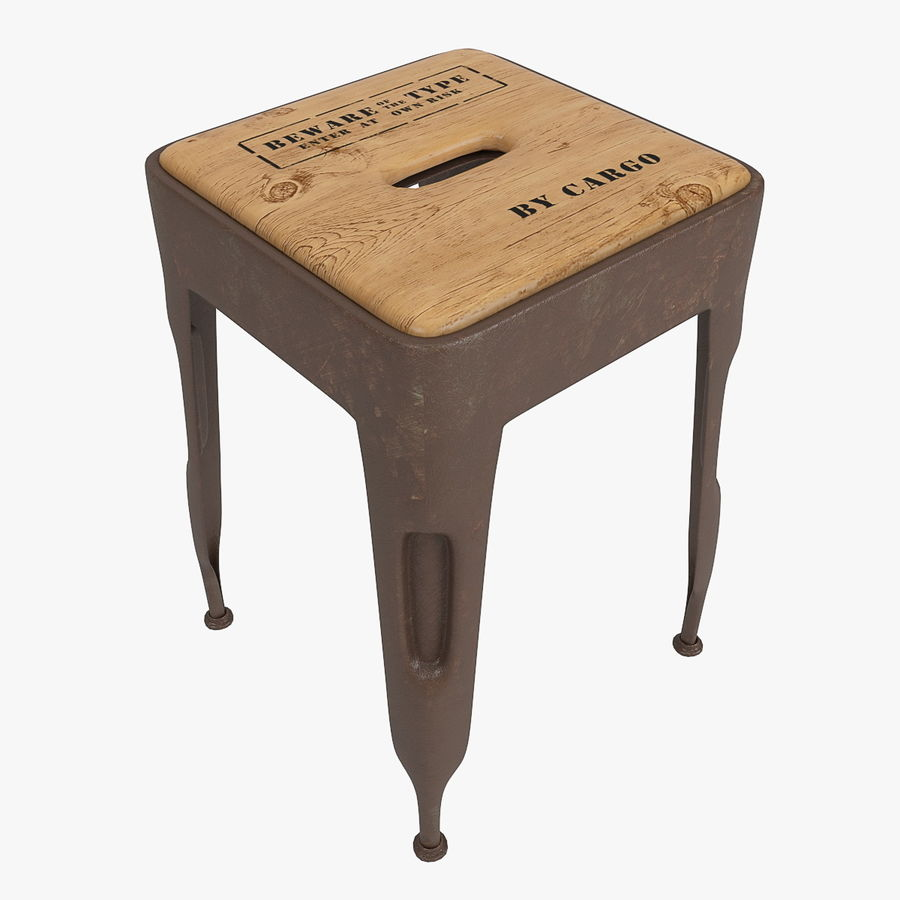 Industrial stool CARGO royalty-free 3d model - Preview no. 2