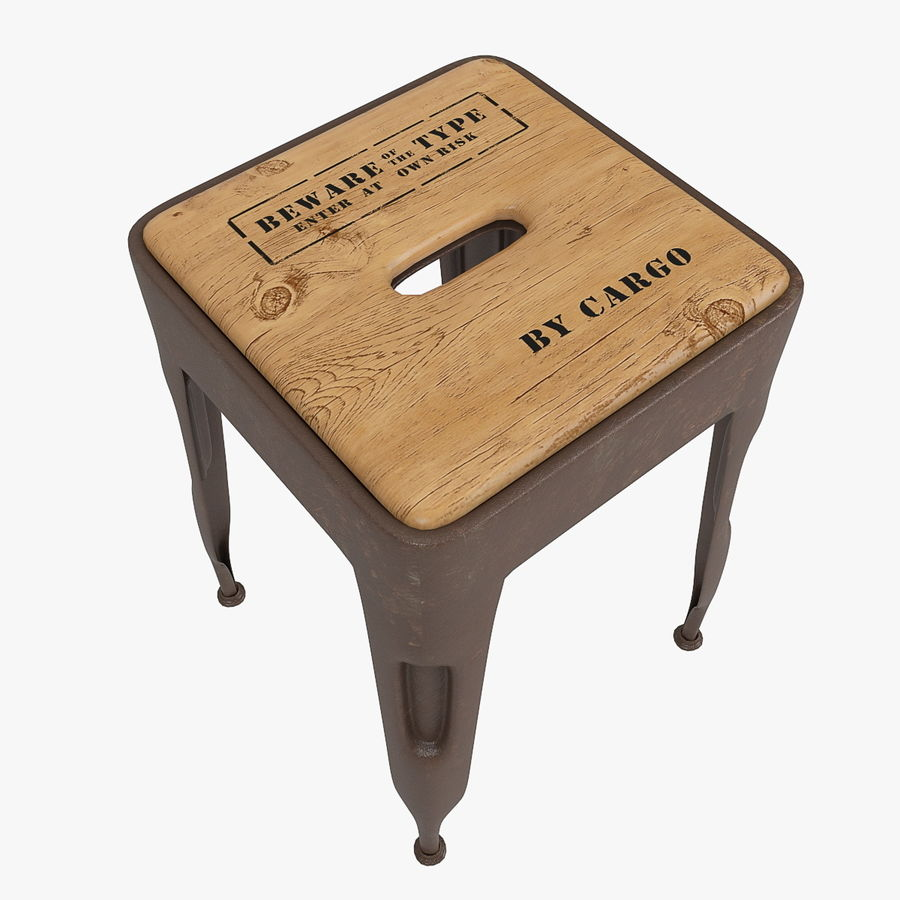 Industrial stool CARGO royalty-free 3d model - Preview no. 3