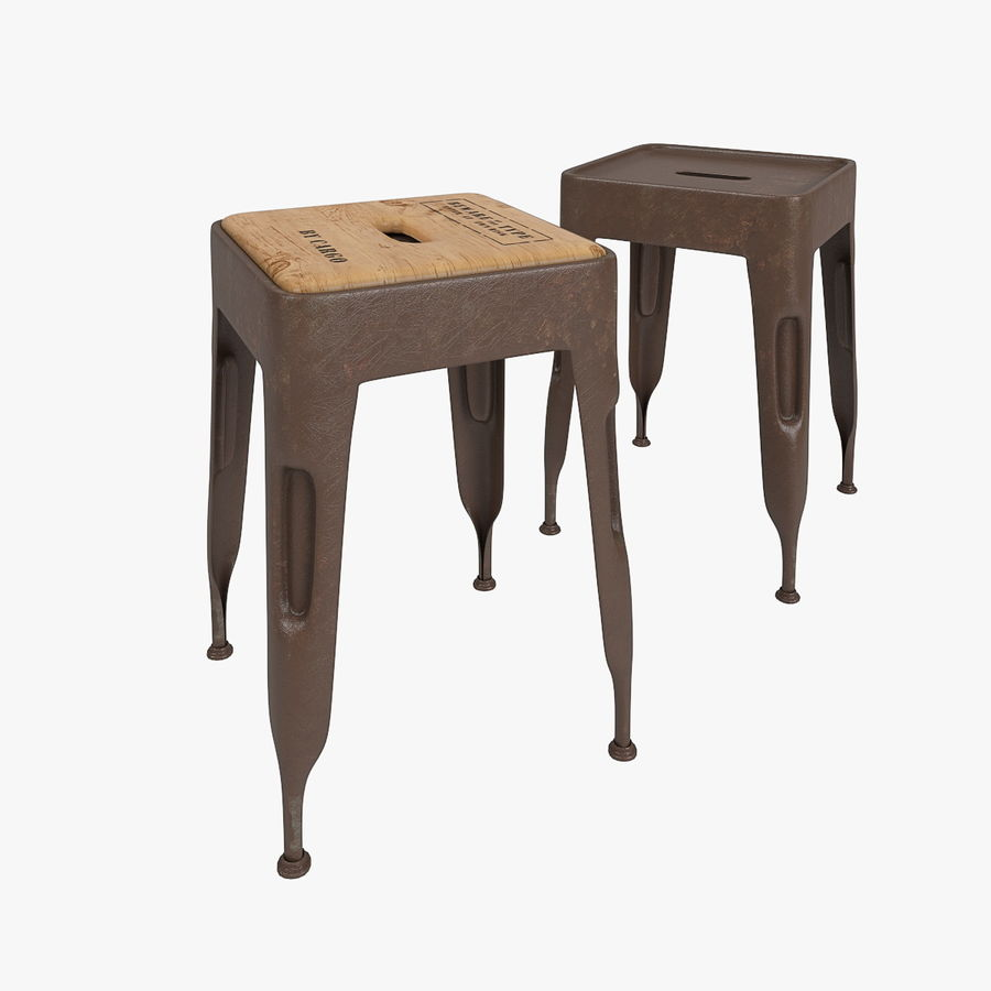 Industrial stool CARGO royalty-free 3d model - Preview no. 1
