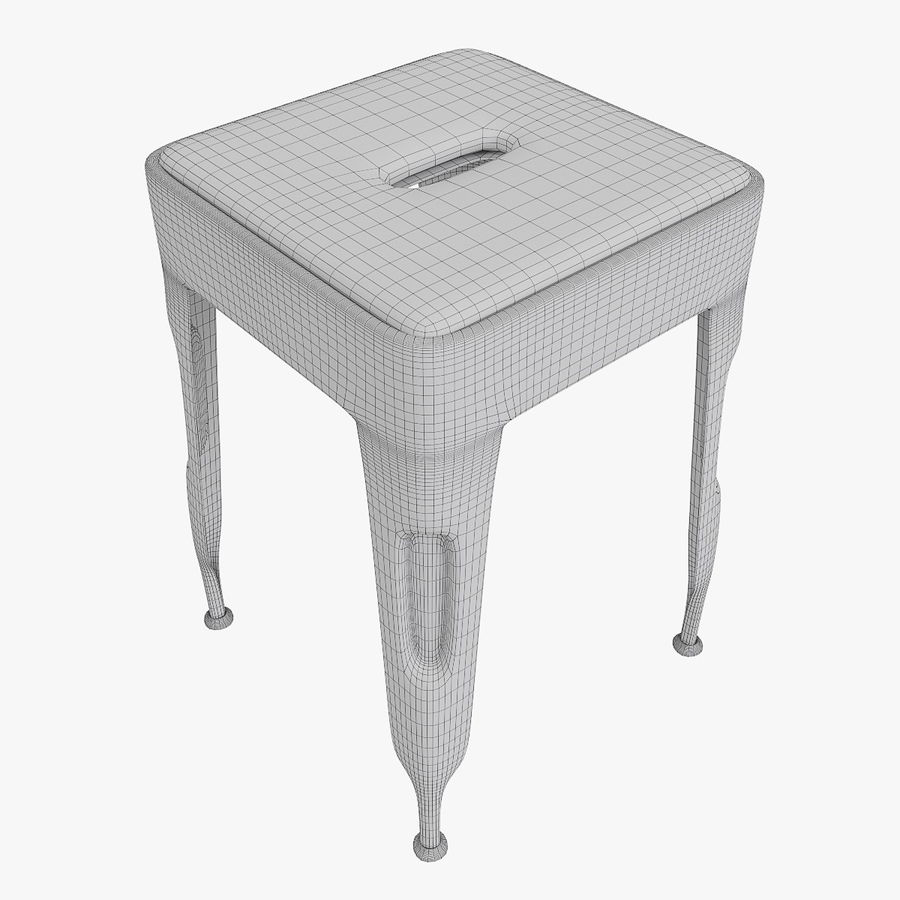 Industrial stool CARGO royalty-free 3d model - Preview no. 7