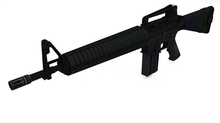 Colt M16A4 geweer royalty-free 3d model - Preview no. 1