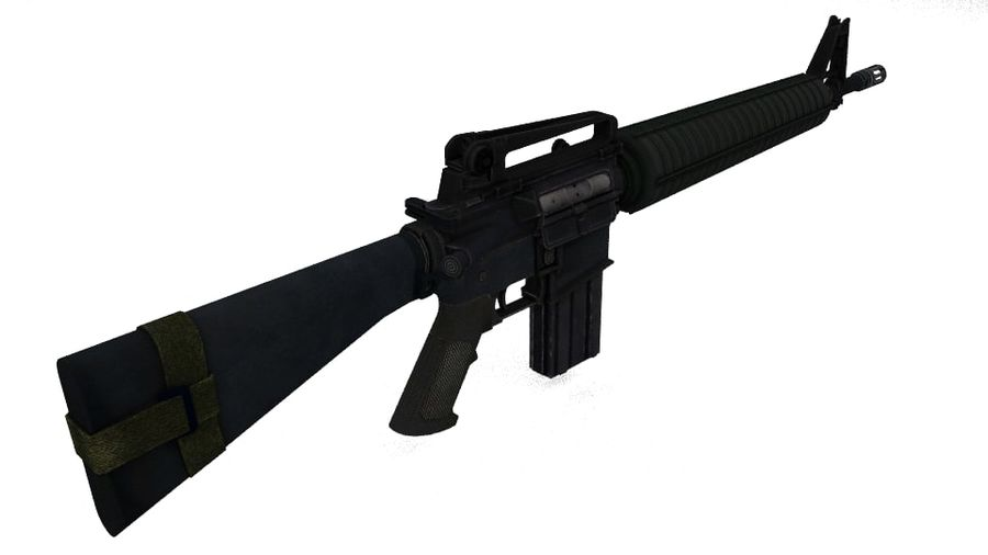 Colt M16A4 geweer royalty-free 3d model - Preview no. 2