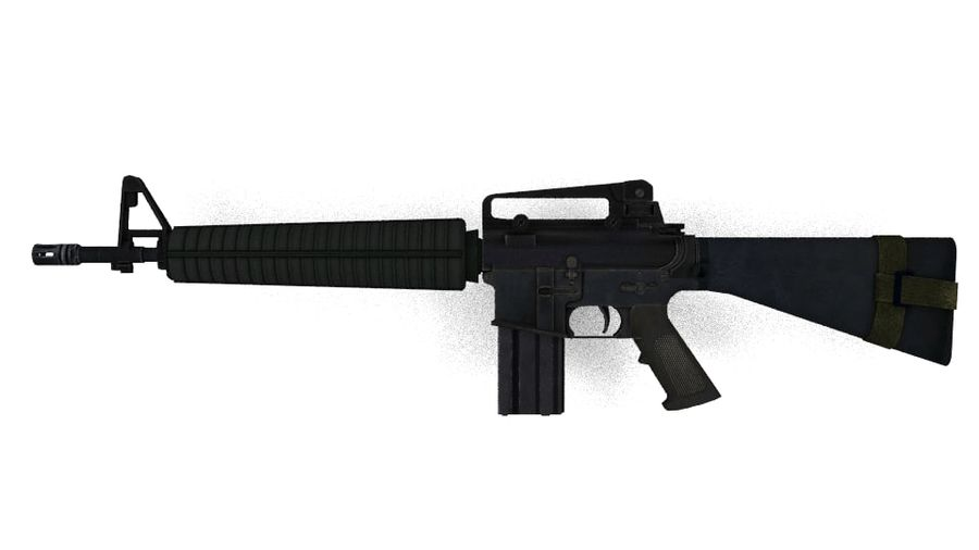 Colt M16A4 geweer royalty-free 3d model - Preview no. 4