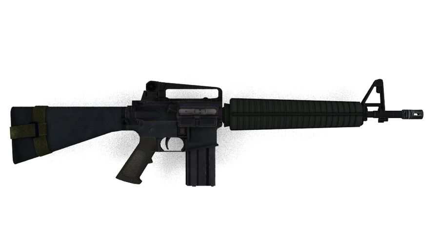 Colt M16A4 geweer royalty-free 3d model - Preview no. 3