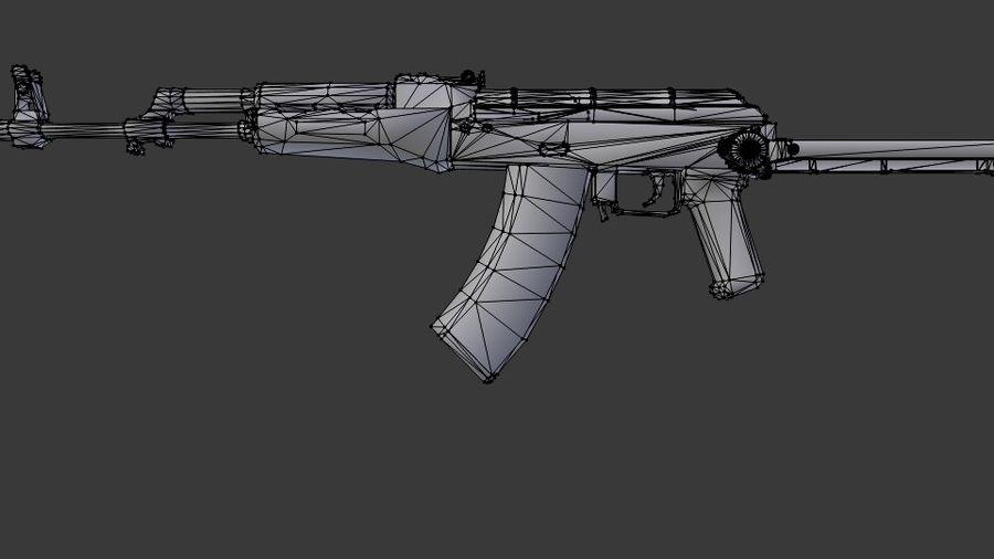 Izhmash AKMS rifle royalty-free 3d model - Preview no. 6