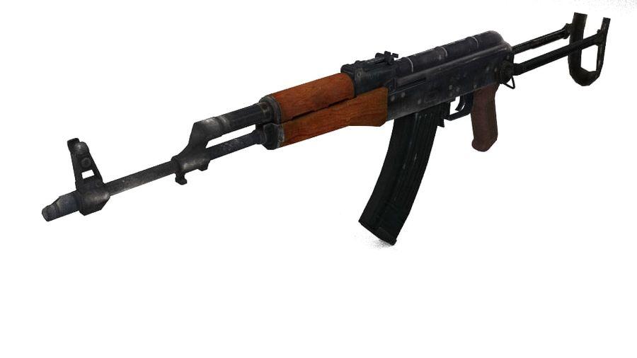 Izhmash AKMS rifle royalty-free 3d model - Preview no. 2