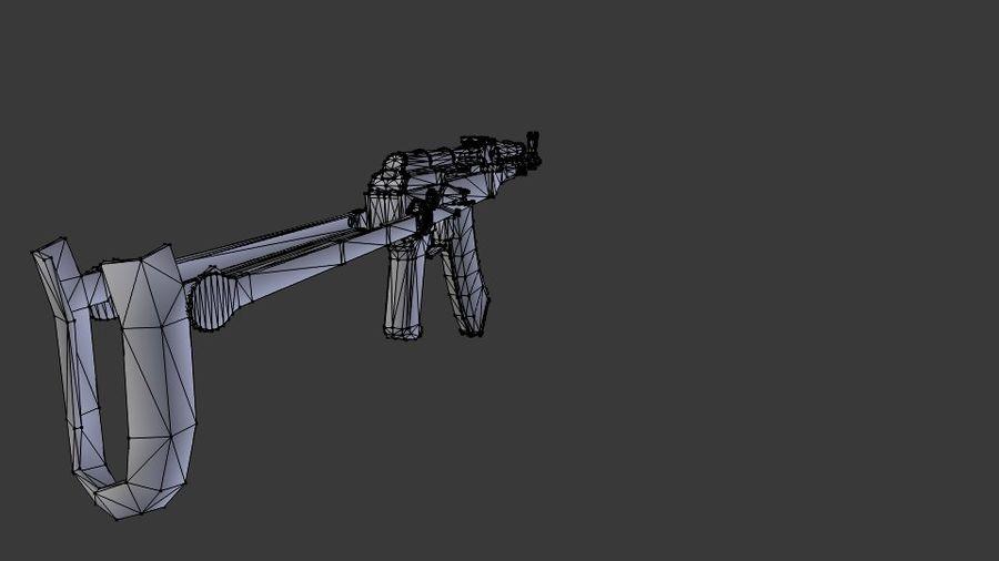 Izhmash AKMS rifle royalty-free 3d model - Preview no. 7