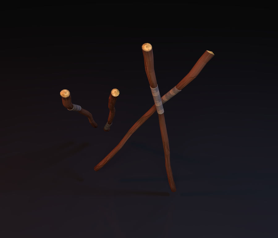 Lowpoly Staff royalty-free 3d model - Preview no. 3