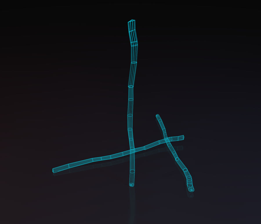 Lowpoly Staff royalty-free 3d model - Preview no. 2