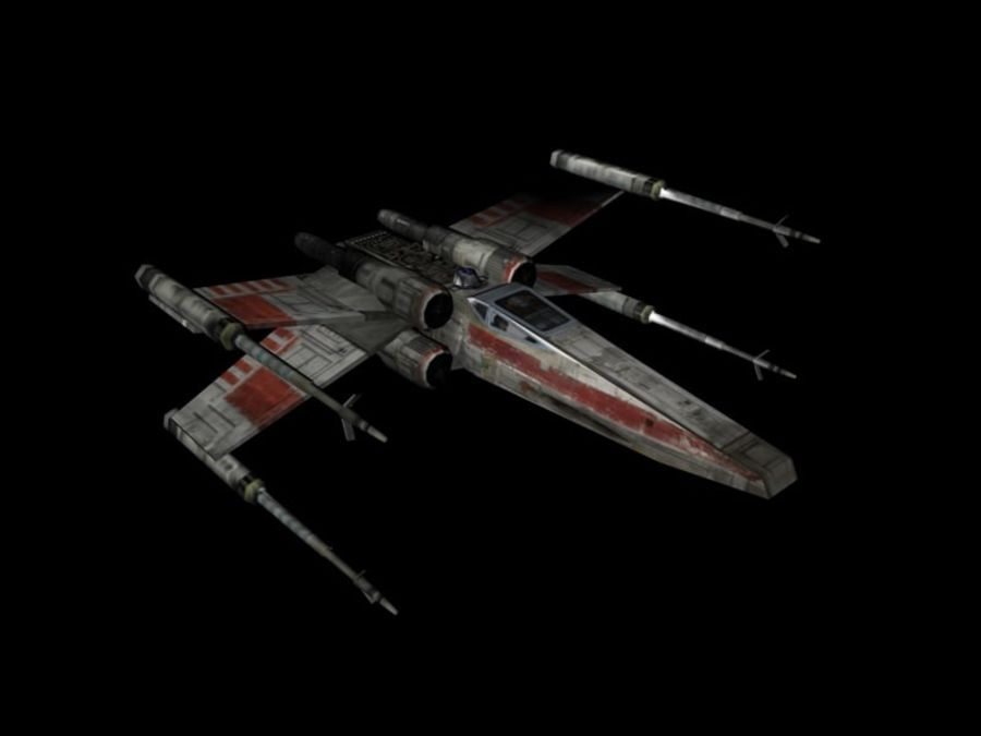 X-Wing royalty-free 3d model - Preview no. 4