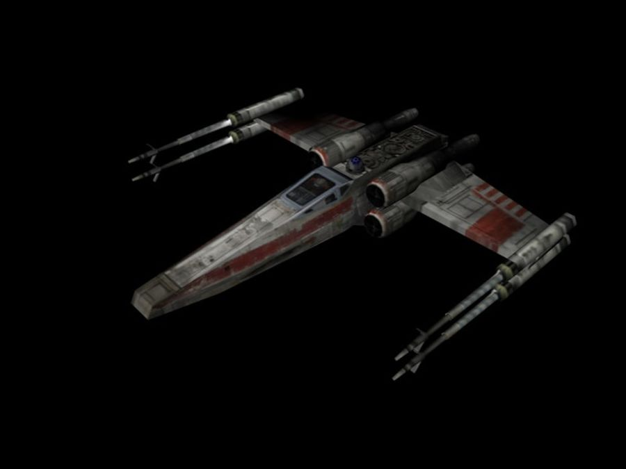 X-Wing royalty-free 3d model - Preview no. 1