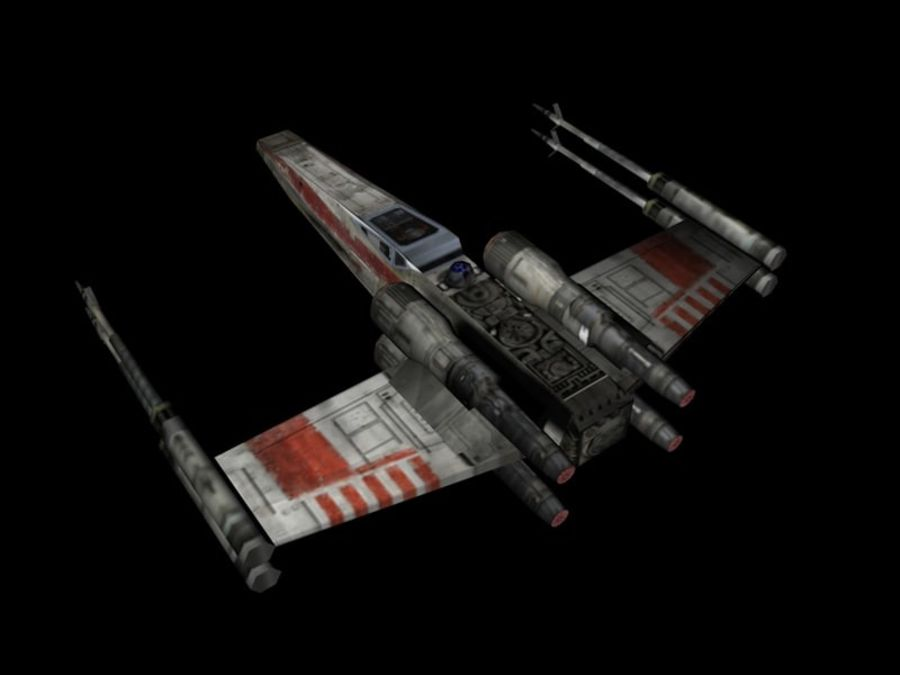 X-Wing royalty-free 3d model - Preview no. 3