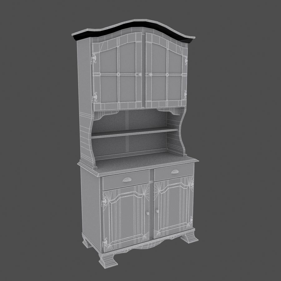 Cabinet royalty-free 3d model - Preview no. 6