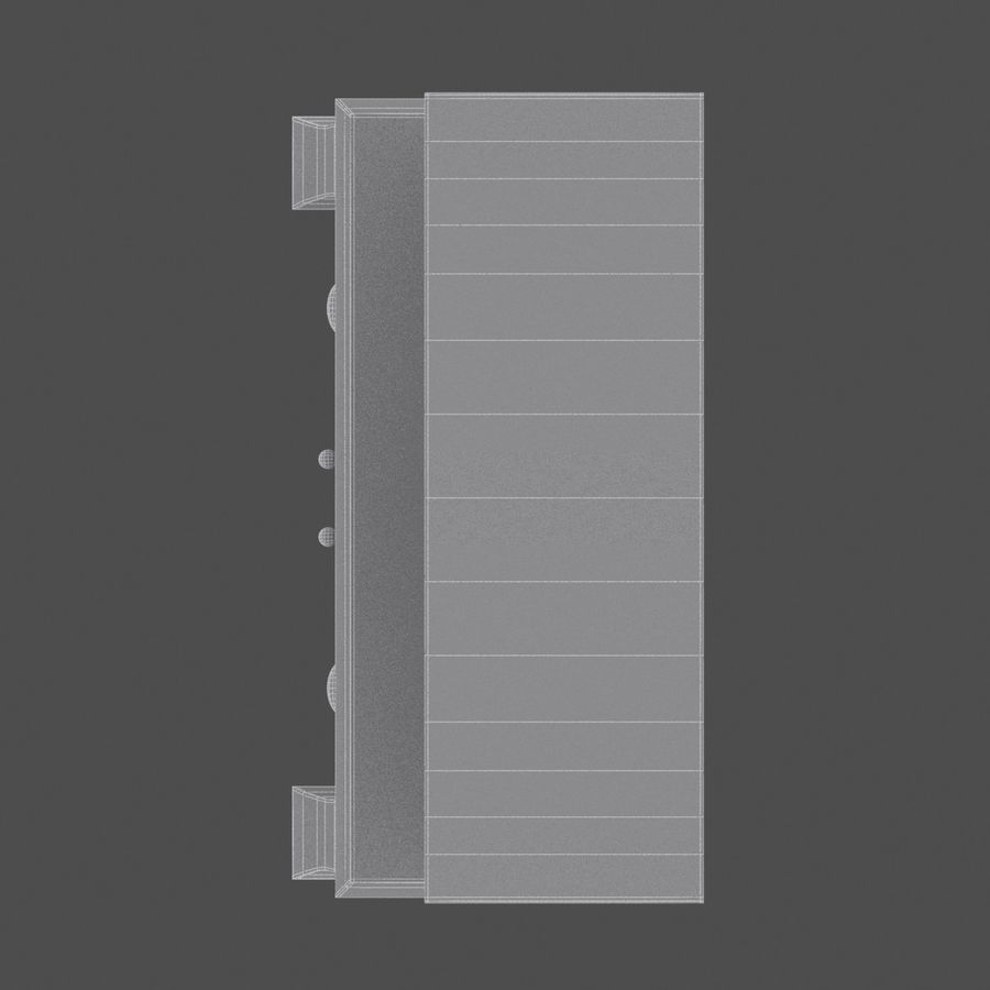 Cabinet royalty-free 3d model - Preview no. 10