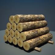 Logs hout houten 3d model