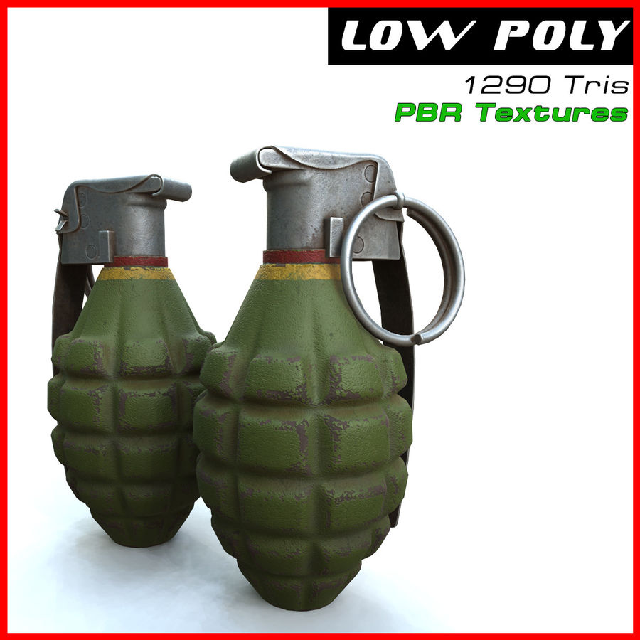 Grenade royalty-free 3d model - Preview no. 1