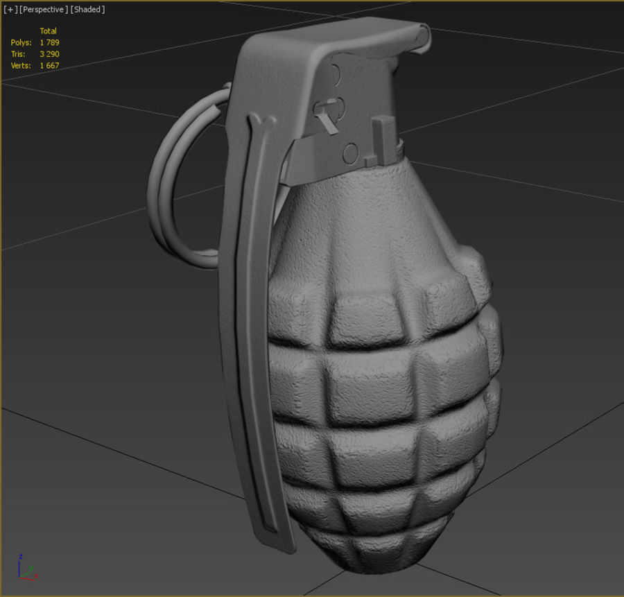 Grenade royalty-free 3d model - Preview no. 10