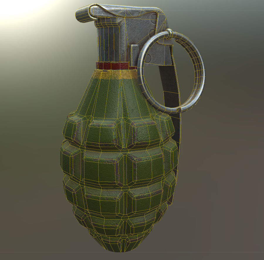 Grenade royalty-free 3d model - Preview no. 5