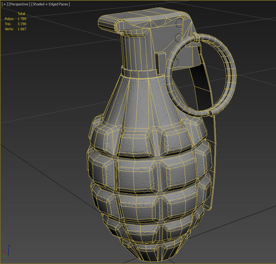 Grenade royalty-free 3d model - Preview no. 9