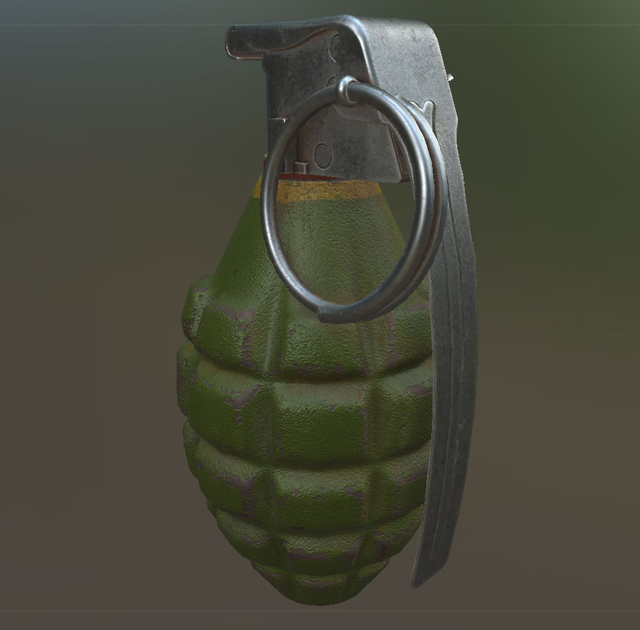 Grenade royalty-free 3d model - Preview no. 6