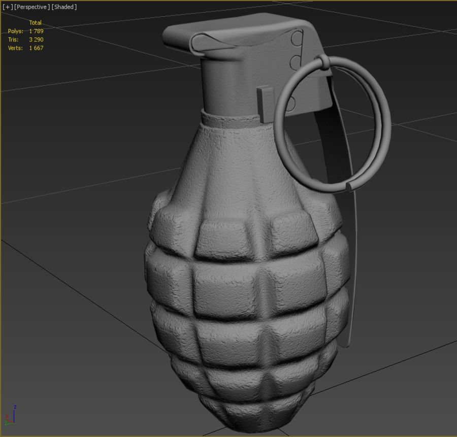 Grenade royalty-free 3d model - Preview no. 8