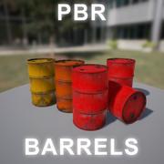 Baril rouge 3d model