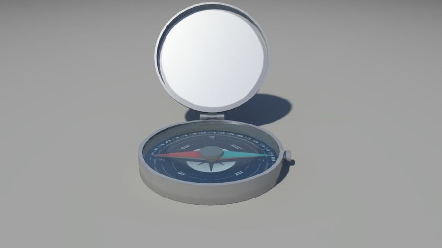 Compass royalty-free 3d model - Preview no. 2
