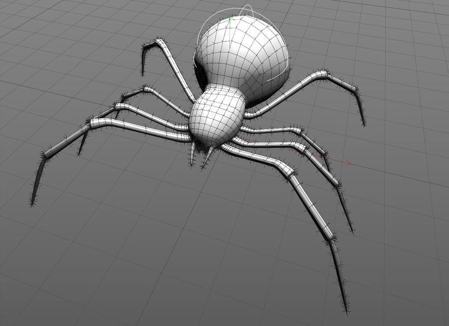 Aranha vermelha royalty-free 3d model - Preview no. 2