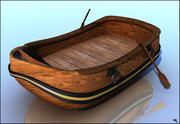 Barco Canoa De Dibujos Animados modelo 3d
