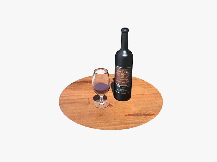 Garrafa de vinho e vidro royalty-free 3d model - Preview no. 5