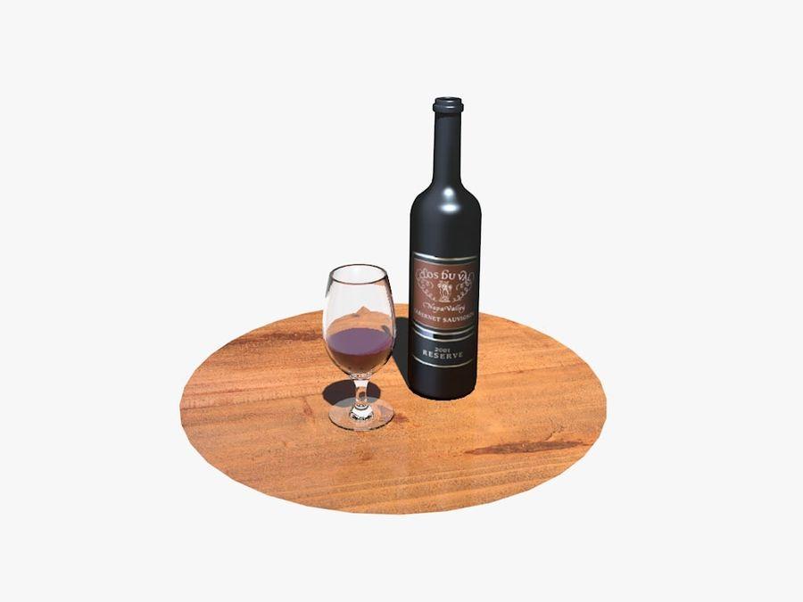Garrafa de vinho e vidro royalty-free 3d model - Preview no. 4