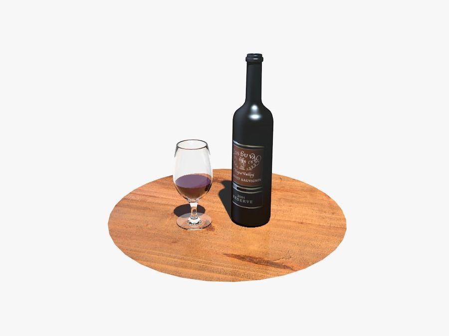 Garrafa de vinho e vidro royalty-free 3d model - Preview no. 1