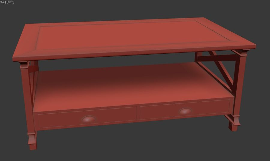 Vardagsrumsbord royalty-free 3d model - Preview no. 8