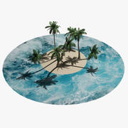 Drzewo kokosowe 3d model