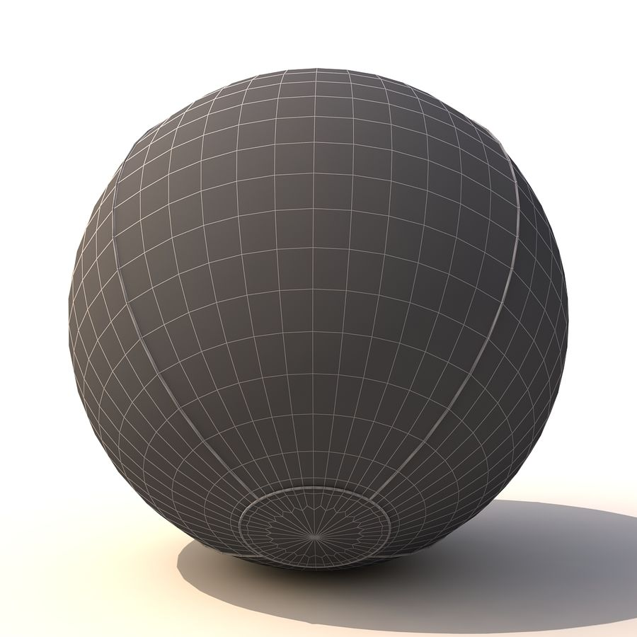 Beach ball royalty-free 3d model - Preview no. 6
