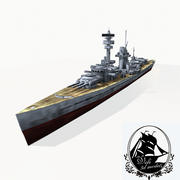 Krążownik klasy Deutschland 3d model