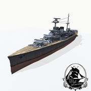 Krążownik klasy Admiral 3d model