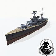 Линейный крейсер адмиральского класса 3d model