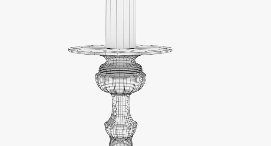 Antique Bronze Candle Holder royalty-free 3d model - Preview no. 15