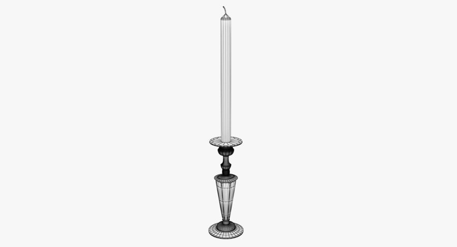 Antique Bronze Candle Holder royalty-free 3d model - Preview no. 13
