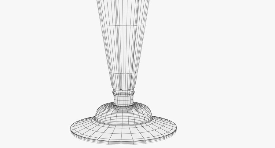 Antique Bronze Candle Holder royalty-free 3d model - Preview no. 17